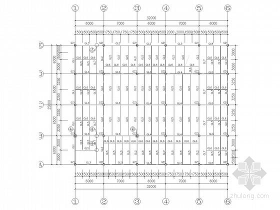 四层钢框架餐厅宿舍结构施工图(含建施)