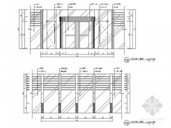 [江苏]历史文化名城高档现代风格星级宾馆装修施工图(含效果)dwg .zip门厅立面图