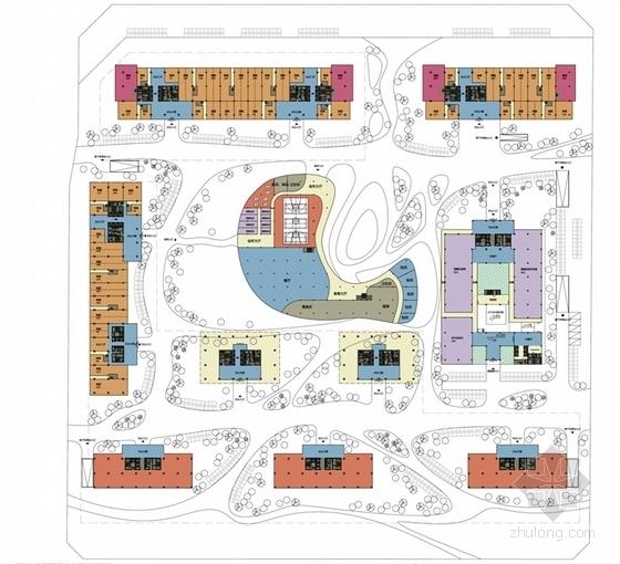 [成都]大中型企业产业园办公集群规划设计方案文本-大中型企业产业园办公集群总平面图