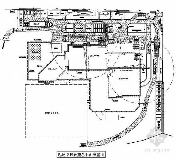 [贵州]酒店工程地上结构施工总平面布置图