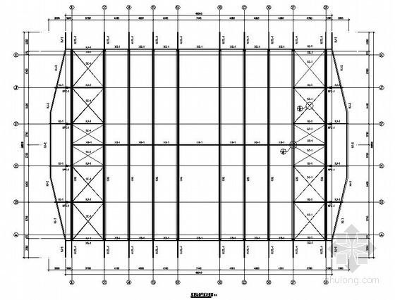 [浙江]钢桁架结构篮球馆结构施工图(含建筑施工图)