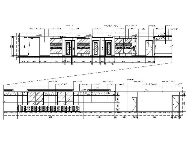 [厦门]豪华舒适6层独栋独家办公楼室内设计施工图-[厦门]豪华舒适6层独栋独家办公楼室内设计立面图