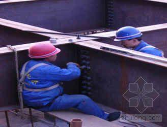 型钢骨架结构安装施工工法