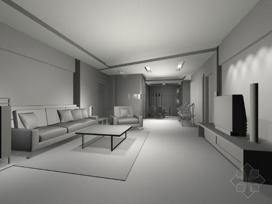 客厅模型-4