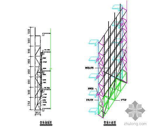 整体可分段附着升降脚手架施工工法