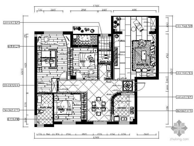 [湖南]现代三室两厅装修图(含效果)