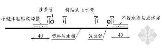 背贴式止水带构造及固定