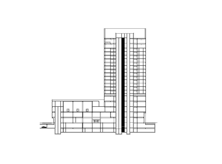 [浙江]复城国际中心居住区建筑施工图扩初设计(CAD)