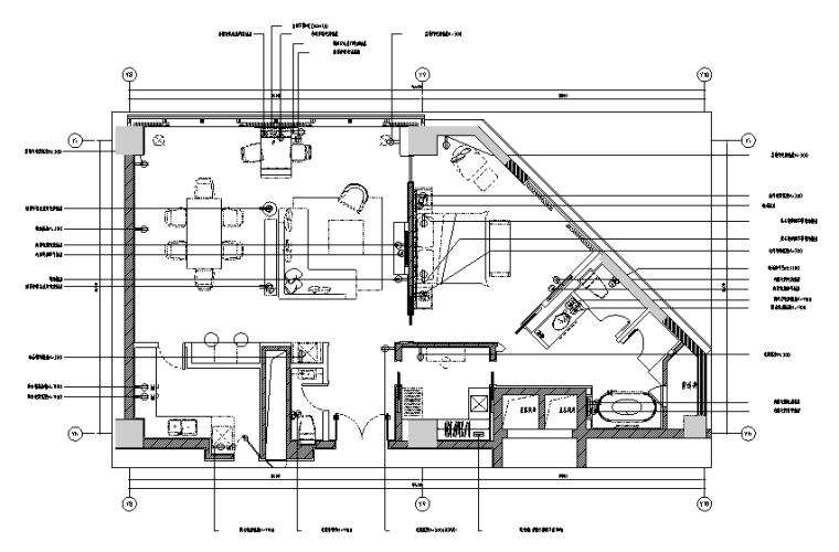 400平方酒店设计施工图(附效果图)_1
