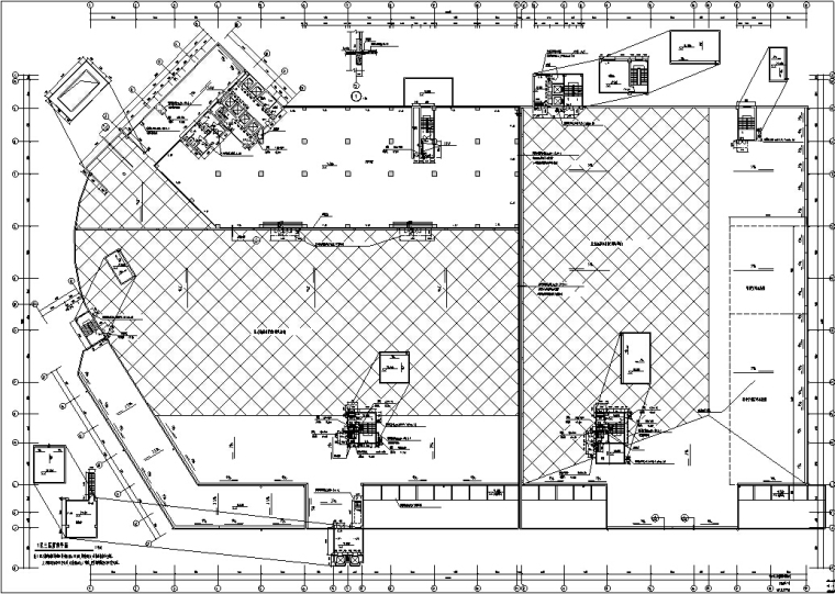 3套商住综合楼建筑设计施工图CAD-黄金海岸商住综合楼平面图