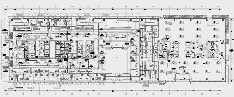 [江苏]大型文化广场多栋综合项目暖通空调全系统施工图(知名大院)