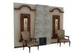 欧美装饰墙3D模型下载