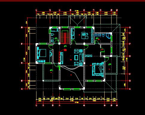 整套欧式别墅设计施工图