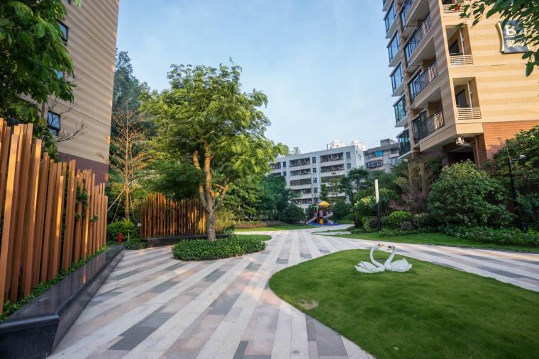 深圳现代风格宝翠苑住宅景观