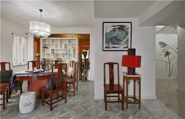 180平新中式家居装修效果图