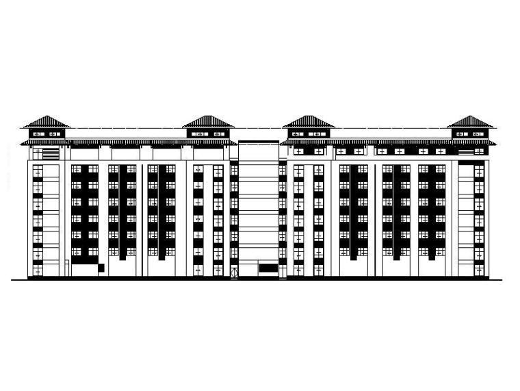 [江苏]高层框架市级福利院建筑施工图(含招标文件与水暖电图)