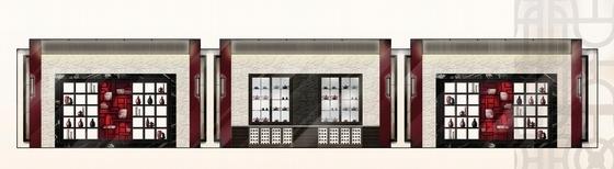 [上海]精品奢华雅致古典风格宾馆室内装饰设计方案-[上海]奢华雅致古典风格宾馆室内装饰设计方案大堂酒廊立面图