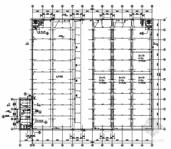 某钢结构厂房强电施工图