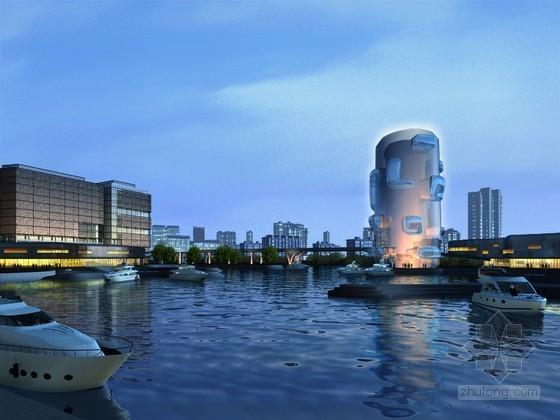 艺术时尚建筑3D模型下载