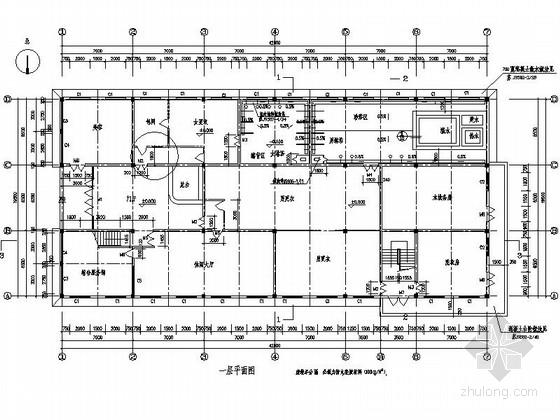 [江苏]某中式风格洗浴中心外立面装修施工图