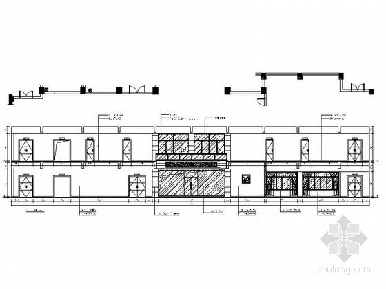 [绍兴]民营企业集团锦纶公司现代办公室装修施工图大厅立面图