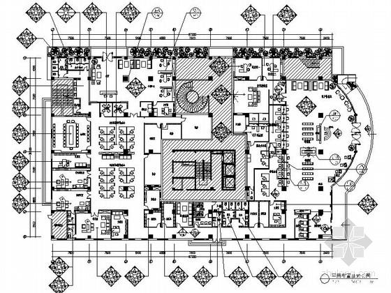 [成都]现代股份制商业金融中心营业厅装修施工图(含效果)