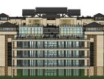 中式风格4层张坝桂林园公园SU精模型