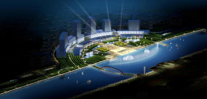 北京高档小区景观设计方案资料下载-[北京]某运河城市景观设计方案