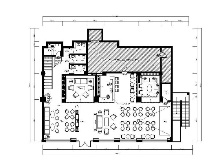 工业化复古简约loft风格酒吧施工图(含效果图)