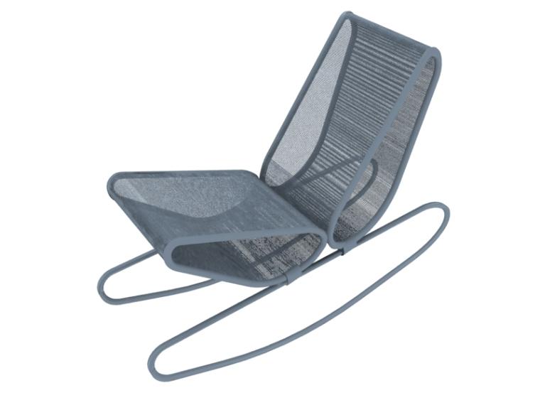 休闲金属躺椅3D模型下载