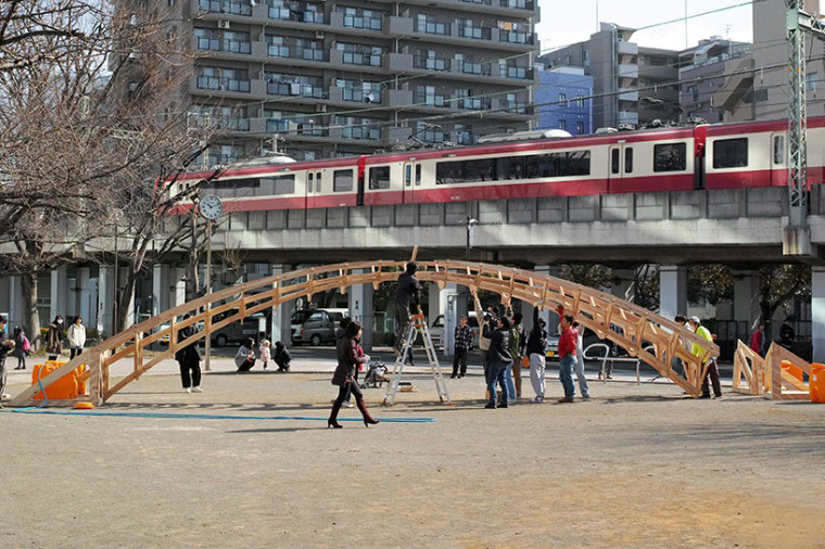 日本可移动木桥装置