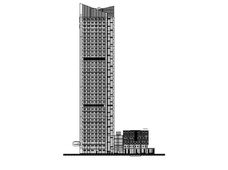 [江苏]超高层框架核心筒结构塔式办公楼建筑施工图