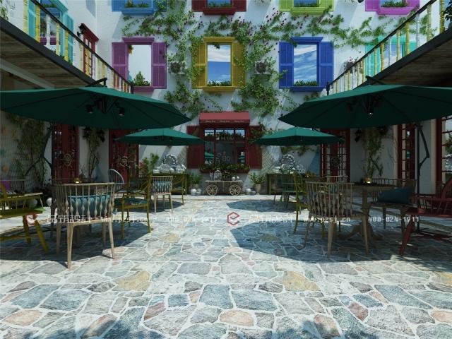 据说这是丹东最美的休闲度假民宿设计,快去瞧瞧-02内庭院日景效果图表现.jpg