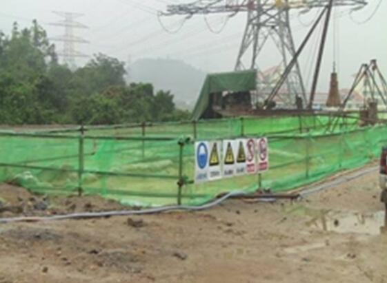 桥梁基础施工现场标准化布置示意图