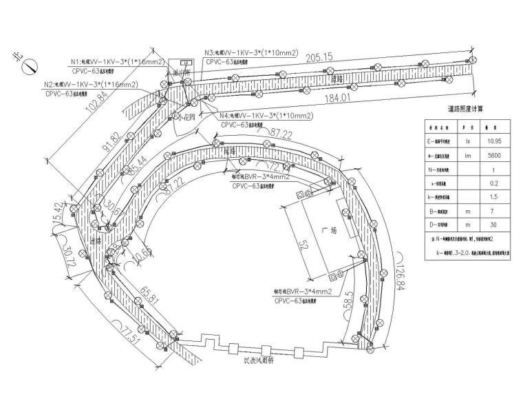 [广西]瑶族乡金鸡寨亮化工程电气施工图最新设计