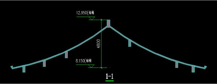 人字坡屋面模板支设的方案