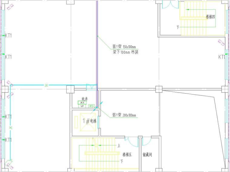 [河北]多层办公楼电气施工图纸