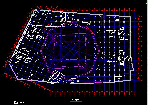 上海环球金融中心基坑逆作法施工结构图