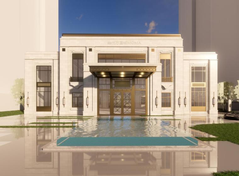 万国城新古典风格售楼处示范区居住模型设计(2018年)