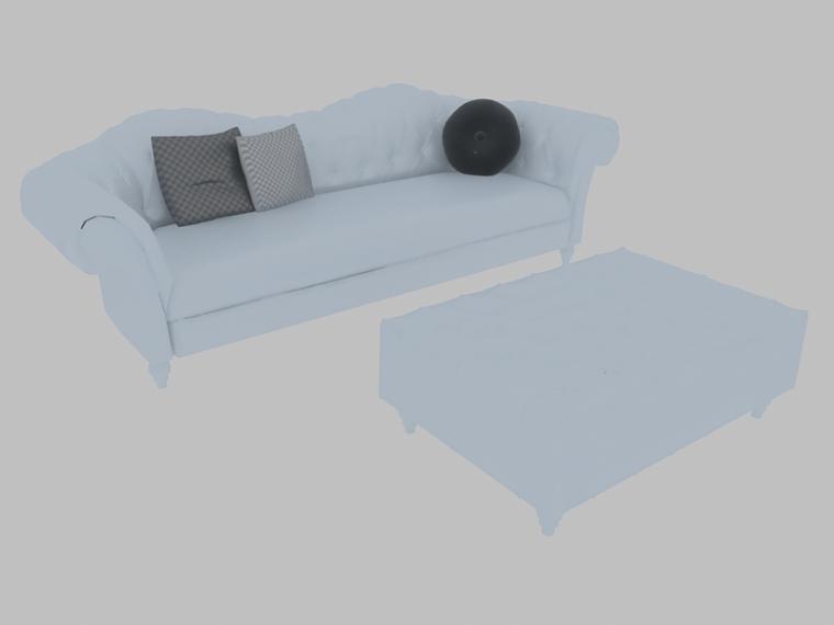 欧式沙发茶几3D模型下载