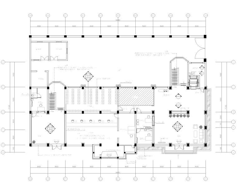 [浙江]嘉华瑞安水务集团行政办公楼室内装修施工图+效果图