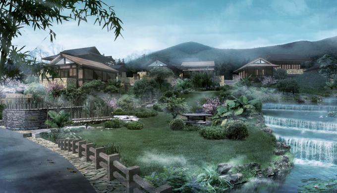 [江苏]滨水生态禅意特色小镇旅游度假区景观设计方案