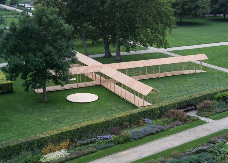 丹麦国王花园里的十字园亭