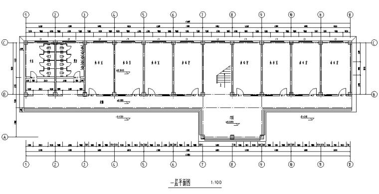 5层框架高中教学楼毕业设计(2000平、计算书、建筑结构图)_4