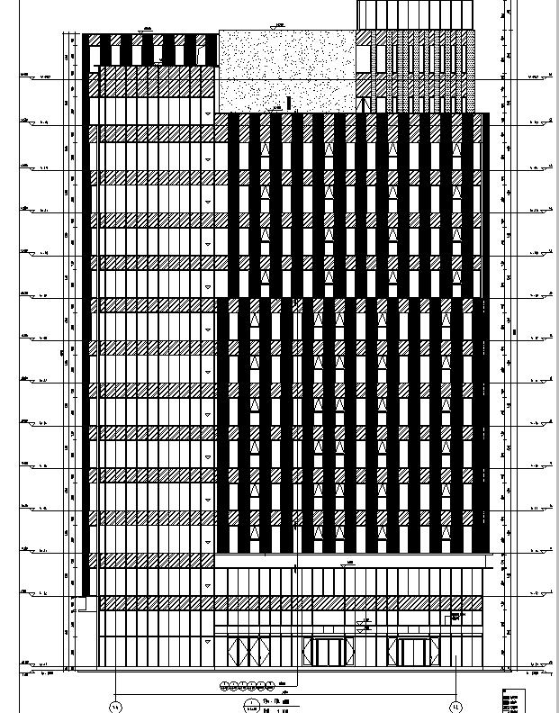 [上海]13栋高层框剪结构住宅建筑全专业施工图(16年审图图纸)