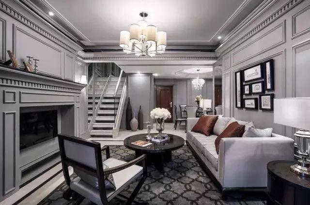 成都法式别墅装修设计 雅致银灰 新贵无比