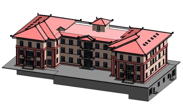 BIM模型-revit模型-仿古检察院结构模型和建筑模型