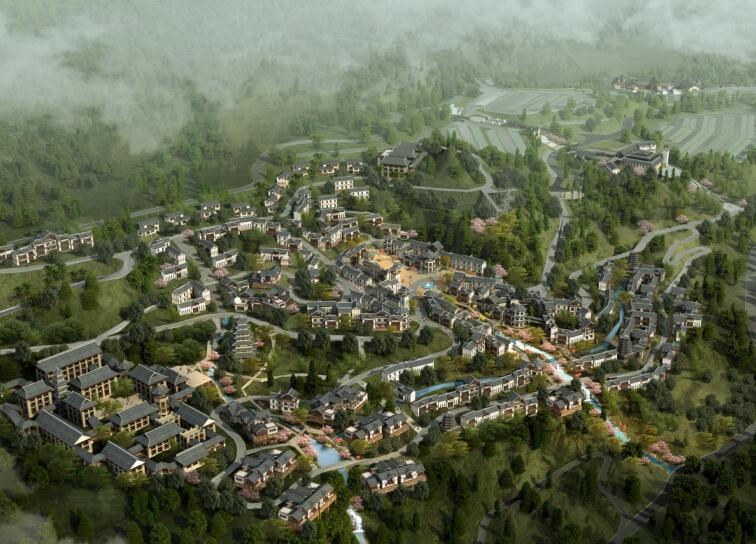 [湖北]恩施大峡谷旅游风情小镇概念规划设计(民族风情)