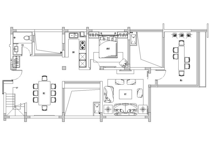 [四川]成都青城山中西结合风格住宅装修施工图