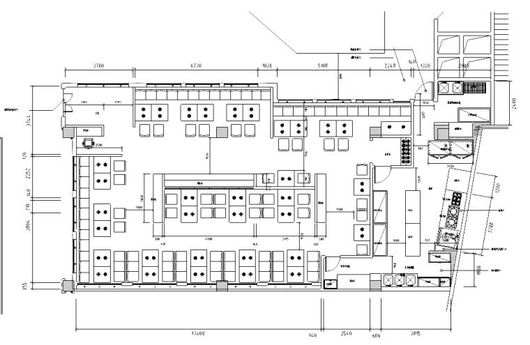 [江苏]现代中式风格火锅餐厅设计图